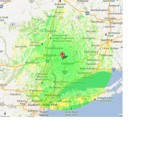 Pearl 2M Repeater Coverage Map | PEARL - Putnam Emergency and